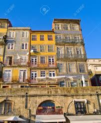 Narrow Houses Typical Narrow Houses Of Porto Portugal Stock Photo Picture And