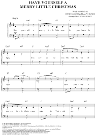 have yourself a merry little christmas sheet music for piano and