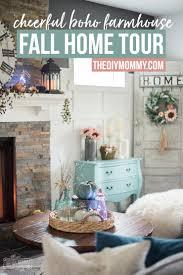 farmhouse style fall 2017 home tour cheerful boho farmhouse style the diy mommy