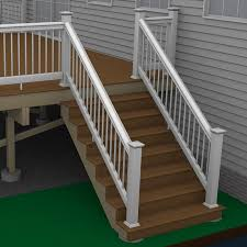 Banister Rail And Spindles How To Build A Deck Composite Stairs And Stair Railings