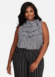 blouse ruffles buy womens plus size ruffled blouses stewart