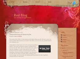 red blog blogger theme blogger themes and blogger templates