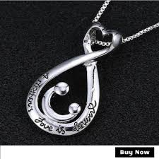 silver plated necklace images A mother 39 s love is forever quot silver plated necklace bargain love jpg