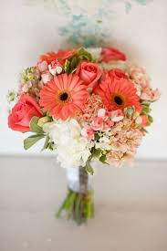 Wedding Flowers For The Bride - a batch of gerbera flowers is classic for a spring wedding bouquet
