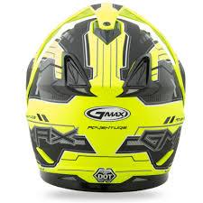 gmax motocross helmets gmax gm11 dual sport adventure helmet flat black hi vis yellow