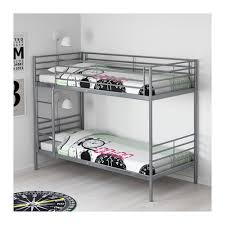 Metal Bunk Bed Frame Svrta Bunk Bed Frame Ikea Regarding White Metal Bunk Beds Home