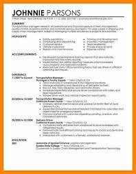 transportation resumes examples sample resume for senior manager