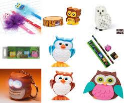 owl backpack stationery back to pencil eraser clock lip