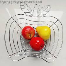 metal fruit basket apple shape wire metal fruit basket storage basket manufacturer