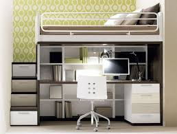 full loft bed with desk and stairs desk interior design ideas