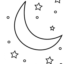 moon and stars coloring pages moon and stars coloring pages free