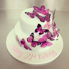 Butterfly Cake Decorations On Wire 2 Tier Butterfly Cake Cakes For All Occasions Pinterest