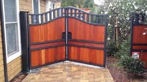 trackless bi fold gate automatic gate bi folding with in ground