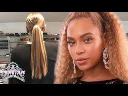 real hair beyonce reveals hair yonce with the goodhair