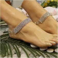 ankle bracelet images Rhinestone wedding ankle bracelet silver modern bridal ankle jpg