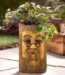 Face Planter Trunk With Face Design Garden Planter Flowers Novelty Fun
