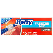 Walmart Furniture Moving Sliders by Hefty Slider Zipper Freezer Bags Quart 15 Ct Walmart Com