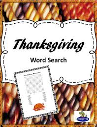 thanksgiving word search by happyedugator teaching resources tes