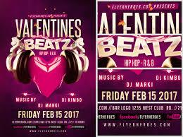 valentines beatz flyer template flyerheroes