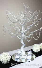 75 cm white plastic manzanita tree wedding table centerpieces