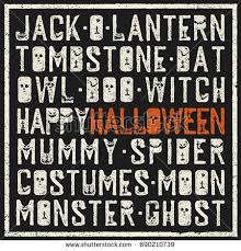 halloween words decorative poster grunge stamp stock vector