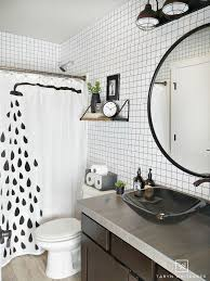 black and white geometric bathroom taryn whiteaker