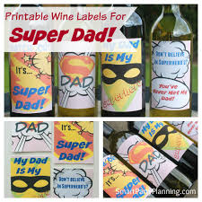 cool wine labels for super dad that he will love