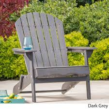 Grey Adirondack Chairs Hanlee Outdoor Folding Wood Adirondack Chair By Christopher Knight