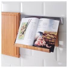 porte livre de cuisine rimforsa support tablette bambou 26x17 cm ikea