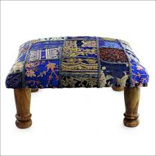 furniture low ottoman round storage ottoman with tray leather