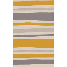 abigail striped rug in gray and orange and nursery necessities in