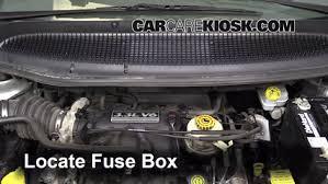 2001 Dodge Caravan Interior Replace A Fuse 2001 2004 Dodge Caravan 2003 Dodge Caravan Se