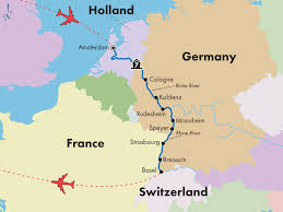 map of germany showing rivers 9 day rhine river cruise visit amsterdam basel heidelberg