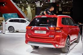 red mitsubishi outlander mitsubishi outlander phev facelift revealed at frankfurt gets