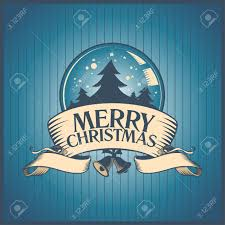 christmas card with snow globe royalty free cliparts vectors