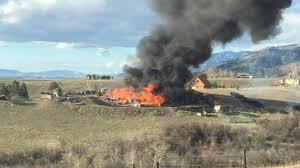 Wildfire Near Missoula by Fire Engulfs A Building North Of Bridger Creek Golf Course Kpax