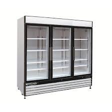 coca cola fridge glass door maxx cold x series 72 cu ft triple door merchandiser