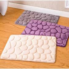 Bathroom Memory Foam Rugs 1pcs Coral Fleece Bathroom Memory Foam Rug Kit Toilet Pattern Bath