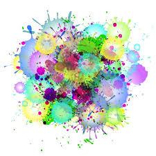 watercolor paint splatters graphics creative market