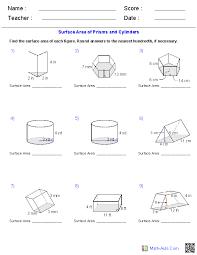 perimeter area volume worksheets free worksheets library