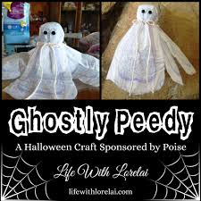 halloween craft poise halloween craft ghostly peedy life with lorelai