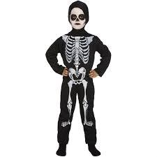 Boys Skeleton Halloween Costume Childs Skeleton Halloween Costume Age 4 6 Fancy Dress Boys