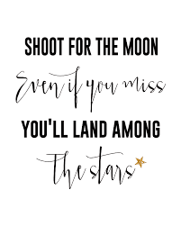 shoot for the moon printable the creative