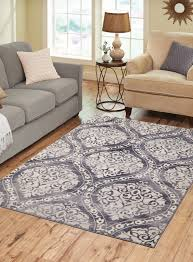 5 X7 Area Rug Gray Distressed Ogee Area Rug 5 X7 Decorate For Less
