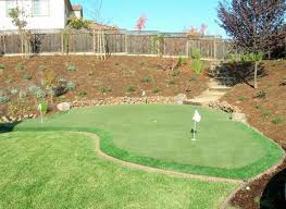 Synthetic Grass Backyard Die Hard San Francisco Golfers And The Home Putting Green