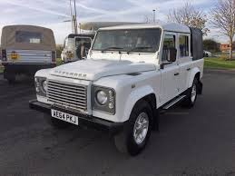 land rover ninety used land rover defender white for sale motors co uk