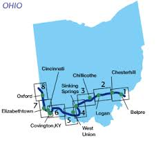 ohio on us map order an ohio map american discovery trail