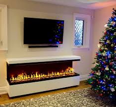 stand alone electric fireplace with water vapor technology opti