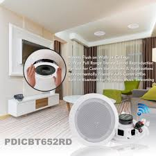 amazon com pyle pair 6 5 u201d bluetooth flush mount in wall in