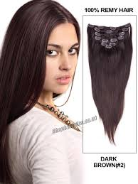 Pre Bonded Human Hair Extensions Uk by 22 Inch 7pcs Clip In Human Hair Extensions Straight 2 Darkest